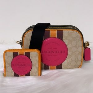 New💃Coach Dempsey Camera Bag and Wallet Set Purse